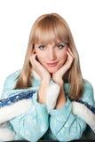 как claus одетьнный русский santa девушки Стоковая Фотография RF
