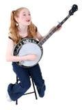 как costume одетьнный hillbilly девушки Стоковое Изображение RF