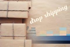 Как dropshipping работает Простая идея дела Стоковое Фото