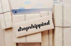 Как dropshipping работает Простая идея дела Стоковое Изображение RF