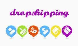 Как dropshipping работает иллюстрация штока