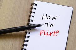 Как Flirt блокнот концепции стоковая фотография