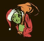 Как Grinch украло рождество иллюстрация штока