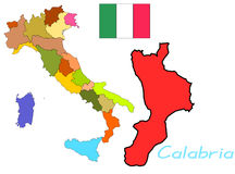 Калабрия Италия Стоковая Фотография RF