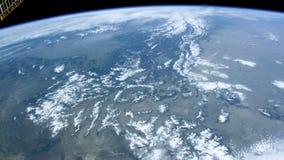Калгари от космоса POV спутника сток-видео
