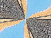Калейдоскоп воды и дороги песка Стоковое фото RF