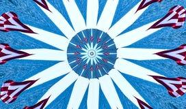 Калейдоскоп знамени американского флага и открытого моря Стоковое Изображение RF