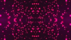 Калейдоскоп с частицами фиолета мелькая яркими, современный компьютер произвел предпосылку, перевод 3D бесплатная иллюстрация