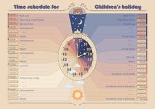 Календарный график для ` s holiday_A3 детей Стоковая Фотография RF