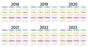 2019 календарных год также вектор иллюстрации притяжки corel Плановик шаблона Иллюстрация вектора