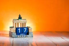 Календарь Германия пасха понедельник 17-ое апреля Стоковое Изображение