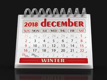 Календарь - декабрь иллюстрация штока