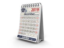 Календарь - декабрь 2019 иллюстрация вектора