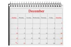 календарь на белой предпосылке Стоковая Фотография