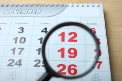 Календарь, 19-ое ноября Стоковые Фотографии RF