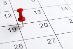 Календарь планирования конца-вверх стоковая фотография rf
