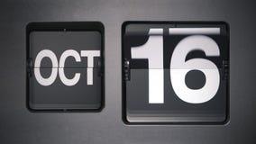 Календарь показывая октябрь сток-видео