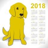Календарь с собакой Стоковые Фото