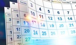 Календарь стоковая фотография