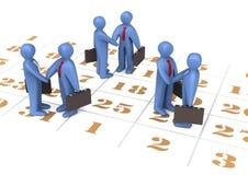календар бизнесменов Стоковая Фотография RF