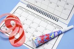 календар благоволит к партии Стоковое фото RF