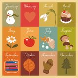 Календар детей иллюстрация штока