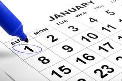 Календар и отметка Стоковая Фотография