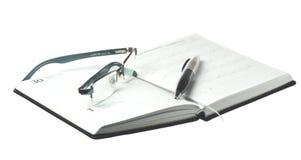 Календар и ручка Стоковые Изображения