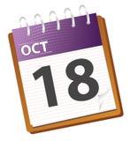 календар октябрь бесплатная иллюстрация