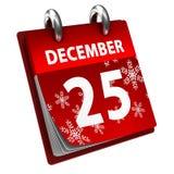 Календар рождества иллюстрация штока