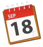 календар сентябрь иллюстрация штока