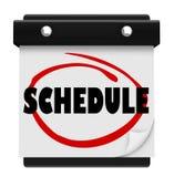 Календар стены слова план-графика вспоминает назначения бесплатная иллюстрация