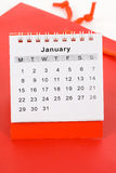 календар январь Стоковое Изображение