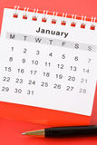 календар январь Стоковые Изображения RF