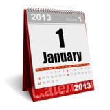 Календар января 2013 бесплатная иллюстрация