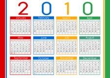 календар 1010 Стоковая Фотография RF