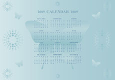 календар 2009 бабочки иллюстрация штока