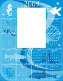 календар 2009 подводный Стоковые Изображения