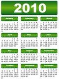 календар 2010 Стоковые Изображения