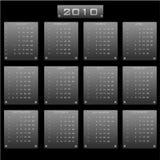 календар 2010 иллюстрация вектора