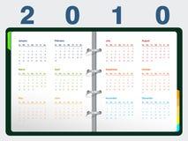 календар 2010 иллюстрация штока