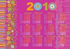 календар 2010 Стоковое Фото