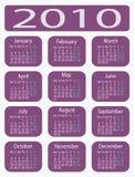календар 2010 Стоковое Изображение