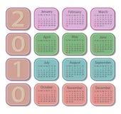 календар 2010 Стоковые Фотографии RF