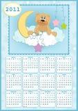 календар 2011 младенца s иллюстрация штока