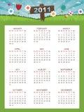 календар 2011 флористический иллюстрация штока