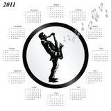 календар 2011 иллюстрация штока
