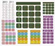 календар 2011 Стоковое Изображение RF