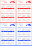 календар 2012 2013 иллюстрация вектора
