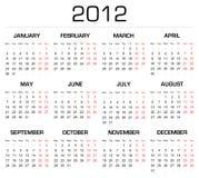 календар 2012 иллюстрация вектора